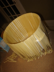 Pasta drying on our super fancy drying rack.