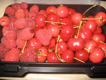 Raspberries and Cherries!