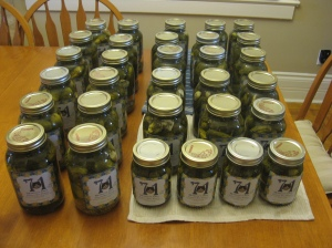 28.75 L of pickles!